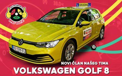 Volkswagen golf 8 novi član našeg voznog parka